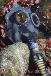 "Gas mask on the ""UNKAI MARU"". by Jim Garland"
